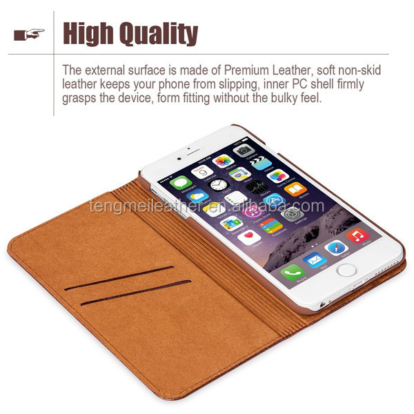 Crystal Series Flip for iPhone 6 pu Leather Case, for iPhone Accessory, for iphone 6 pu leather phone case