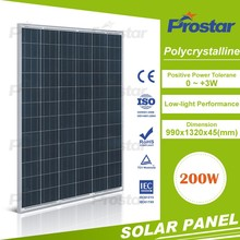 PolycrystallSolar Cell Panel 18V Poly Solar Cell 200W Solar Panel