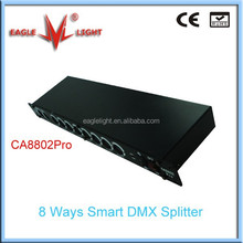 Intelligent/smart DMX 8 way Splitter/amplifier/distributor for LED stage light