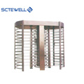 Double entrance full height revolving turnstile barrier gate