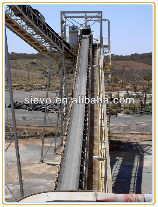 belt conveyor impact idler roller / conveyor belt for stone