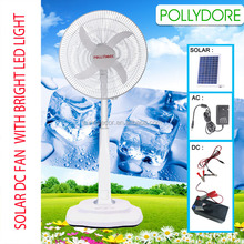 18inch standing Solar DC fan with LED light