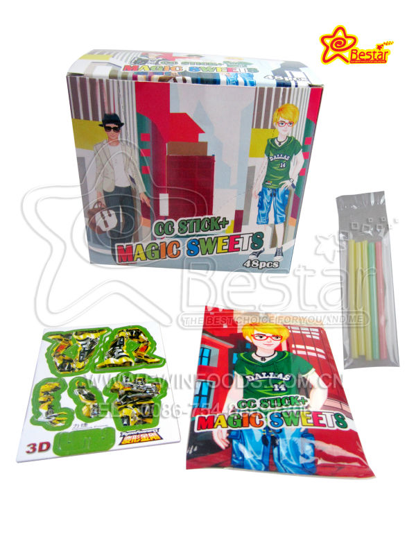 Fashion Boy 3D Puzzle With CC Stick Candy