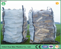 Breathable Fabric Open Top Flat Bottom PP Big Bag 200kg For Firewood Package