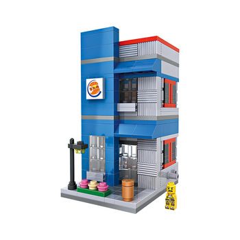LOZ 1602 plastic educational toy hamburger shop building block toy brick