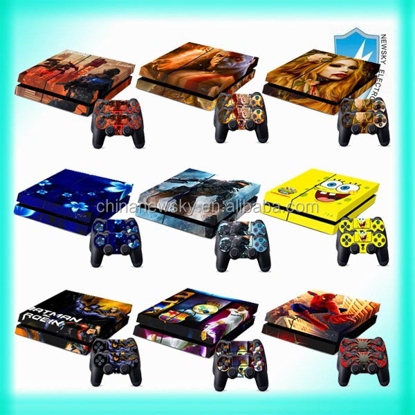 New Hot decals Sticker console/Controller vinyl skins for PS4