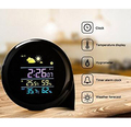 hot new products for 2017 weather station color digital thermometer hygrometer battery alarm clock