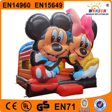 Commercial Grade Inflatable Minnie Mouse Bouncy Castle with Slide for Sale