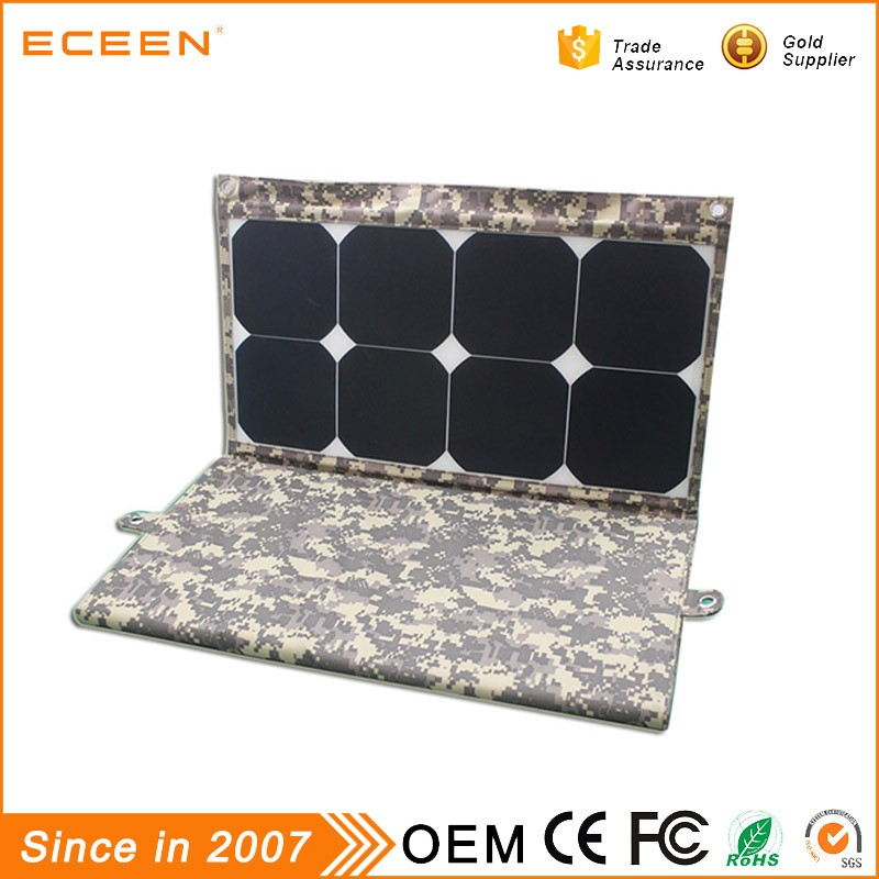 2017 High quality 130W photovoltaic folding low price mini solar panel