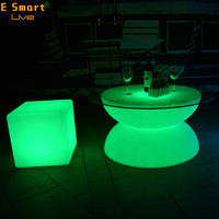 interactive led light round table/led light coffee table