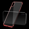 For iPhone X Electroplating Soft TPU Phone Case