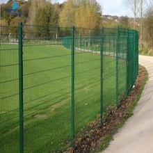 Professional factory pvc coated 4x4 welded wire mesh fence panels