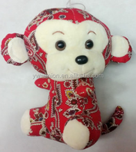 lovely cartoon adult monkey mascot costume for happy new year chinese spring festival day plush toys