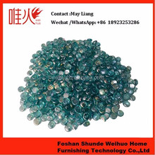 Flat Glass Beads Aqua Blue Luster gas fire pit glass