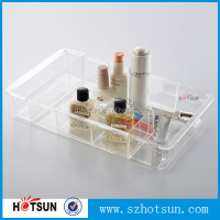 Shenzhen factory custom high quality acrylic lucite tray wholesale