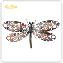 Home Decor modern design metal wire wall art 3D Dragonfly with good quality