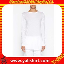 wholesale high quality white soft pima cotton blank anti pilling cheap t-shirt