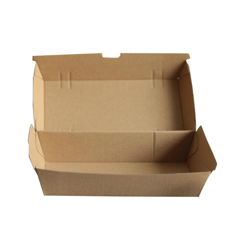 Rectangular corrugated packaging box for hot dog