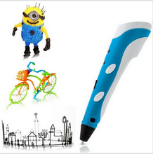 New Magic 3d printer pen Drawing 3D Pen With free 3Color ABS filament 3D Printing 3d pens for kids birthday present Useful gifts