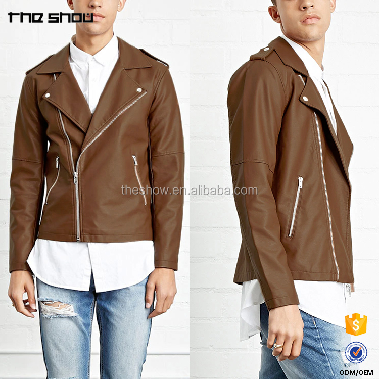 OEM service Chinese factory custom faux leater leather moto jacket