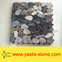 Low Price of Mixed Color Flat River Stone