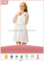 Wholesale Women Hooded Kimono Cotton Bathrobe