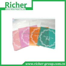 disposable reinforced printed poly market self sealing plastic bag for food