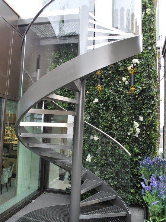 prefabricated stainless steel spiral stairs