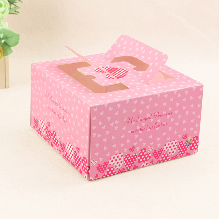 color printed packing boxes for cupcakes wholesale
