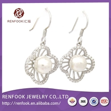 Renfook manufacturing designs jewelry 925 Sterling silver eardrop for diy
