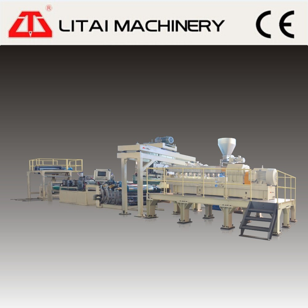 New product PET/PLA sheet extruder line