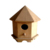 Custom natural wooden solid outdoor ladybird house