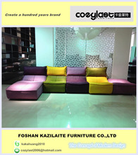 Heated sectional modular sofa
