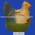 Plaster chicken money saving bank