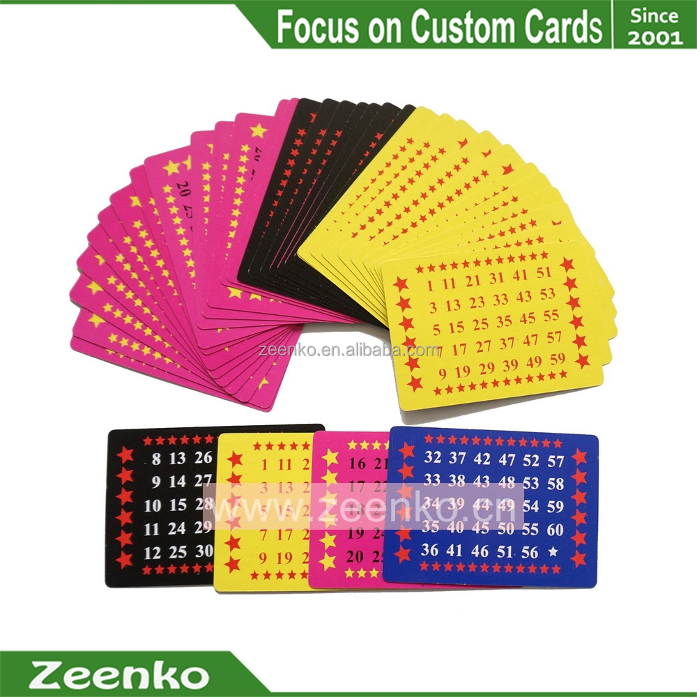E013 US custom printed Number learning cards phase 10 playing card game plastic playing card