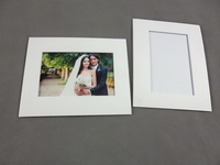 High quality acid-free matboard/mountboard/ passepartout photo frame with back