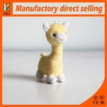 yellow lovely alpaca stuff plush toys for phone accessories / bag accessories hot sale animal plush toys