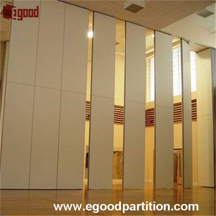 sound absorption sliding folding hanging type wall partition for meeting room