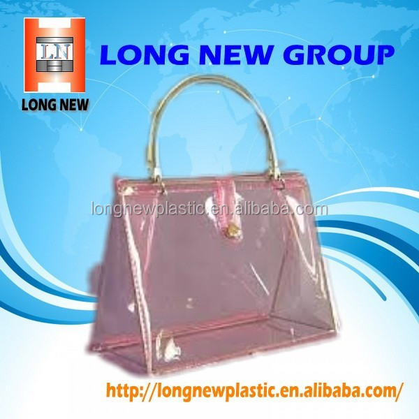 E china suppliers Promotional Fashion custom pvc tote bag