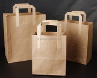 custom takeaway paper food bag with handle