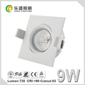 Lepu GYRO Anti-glare spring clip cct dimming recessed sharp cob led lampen downlight ip44 9w NEMKO