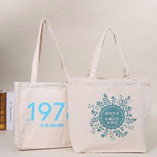 Wenzhou custom printed white canvas cotton tote bag