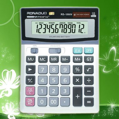 novelty cheap mini calculator 12digits desktop calculator CE&ROHS Large display dual power office desktop calculator