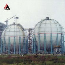 250 Ton ASME Silicon Tetrachloride Butane Carbon Steel LPG Spherical Storage Tank