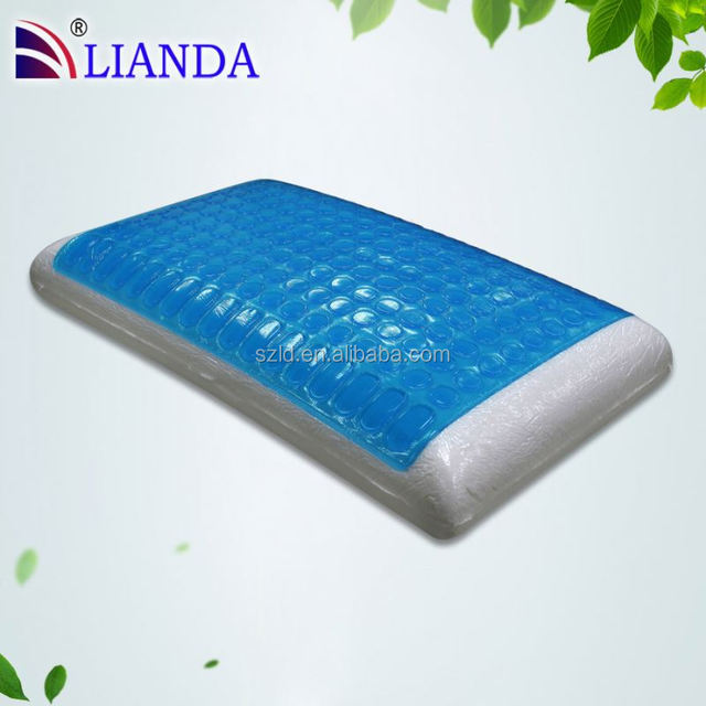 hot sell natural gel memory foam pillow, silicon gel massage table face pillow FD-001