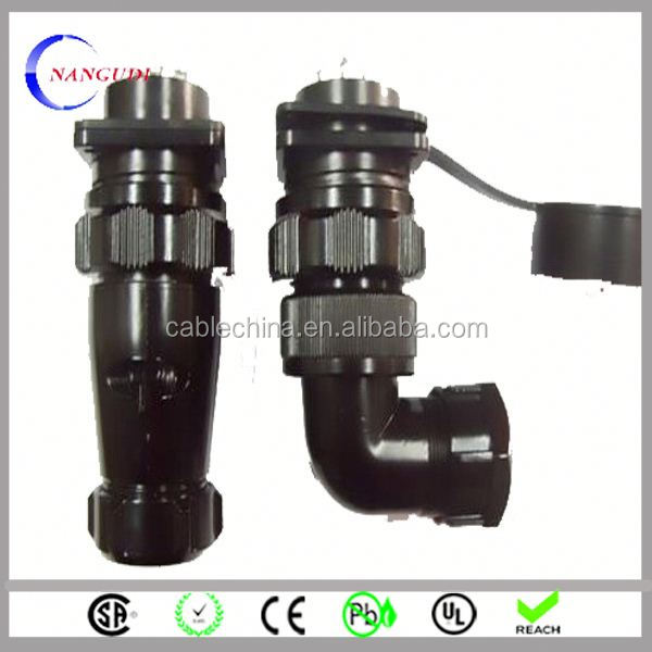 oem design custom made waterproof plug and socket with 2 pin connector