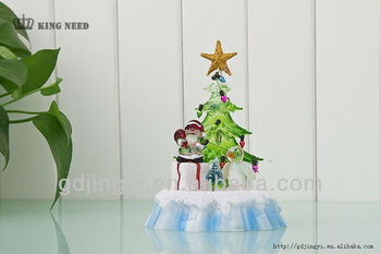 acrylic LED christmas tree snowman table christmas decoration