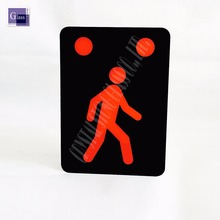 High Quality Tempered Silk Pringt Glass With LED Emergency Exit Sign Glass Board