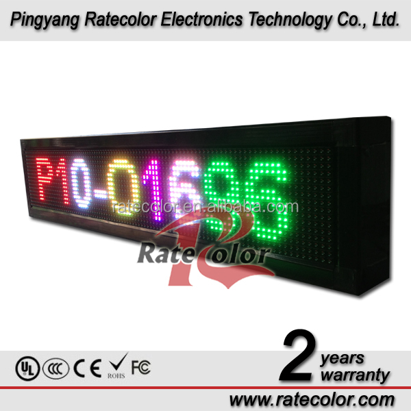 Multi color electronic scrolling message led sign board for shop/ bus/ school/ hotel/ bar/ guesthouse 16x96cm