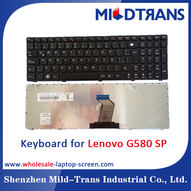 Wholesale laptop replacing Keyboard for Lenovo G580 SP layout